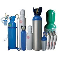 Wholesale Steel 40L Industrial Gas Cylinders , O2 Oxygen Compressed Gas Tanks from china suppliers