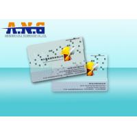 Wholesale Clear Custom Printed Cards PVC Transparent Business Cards 85.5×54×0.76mm from china suppliers