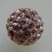 Wholesale Light Peach Clay Shamballa Pave Beads In Size 6mm, 8mm, 10mm, 12mm from china suppliers