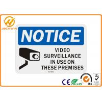 Wholesale Notice Rectangle Aluminum Video Surveillance Sign Cctv Security Alert 0.4mm Thickness from china suppliers