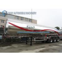 Quality Customized 40000L Aluminum 5454 Tank Semi Trailer Three Axle Trailers for sale