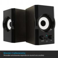 Quality Beautiful Portable Wooden Computer Speakers With Subwoofer Output 3.5 mm Jack for sale