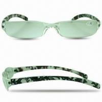 Buy cheap Colorful Temples Reading Glasses with 1-piece Lens, Non-toxic from wholesalers