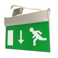 15 PCS SMD Led Aluminum Exit Sign Ceiling Surface Suspended Emergency Light Fixture