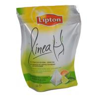 Wholesale Graceful Curved Lipton PET / VMPET / PE Tea Packaging Bags Stand Up from china suppliers