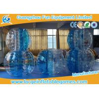 Wholesale 0.7mm TPU 1.5m Inflatable bumper ball Blue Striped CE / EN14960 / EN71 / SGS from china suppliers