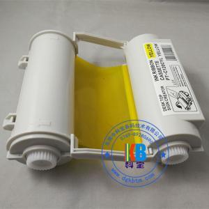 Quality compatible  Max bepop  CPM-100 HG3C  blue color ribbon cartridge 120mm*55m for sale