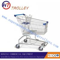 Wholesale 125L Zinc Coating Supermarket Shopping Trolleys With 4 Inch PU Wheels from china suppliers