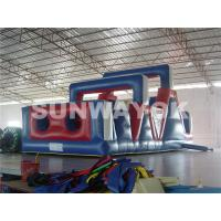 Wholesale Fireproof Tarpaulin Inflatable Obstacle Course , moon bounce obstacle course from china suppliers