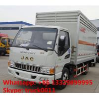 Wholesale JAC brand 4*2 LHD 5 ton inflammable gas cylinders transport truck for sale from china suppliers