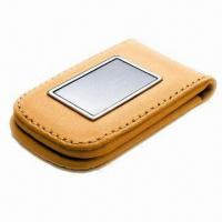 Wholesale Leather Money Clip with Two Strong Force Magnets, Available in Various Designs from china suppliers