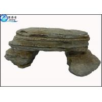 Wholesale Simulation Stone Bench Handmade Non-toxic Resin Ornaments Home Aquarium Accessories from china suppliers