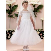 Wholesale China Flower Girl Dress/ Short Sleeve Lace Little Princess Flower Girl Dress from china suppliers