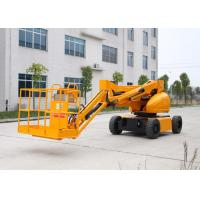 Wholesale 10M Electric Powered Articulated Hydraulic Boom Lift With 200KG Lifting Capacity Trojan Battery from china suppliers