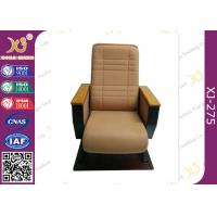 Wholesale High Back  Fixed Floor Cinema Theater Chairs With Wooden Pad , Folded Auditorium Conference Hall Chairs from china suppliers
