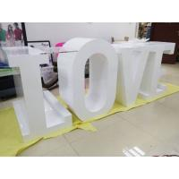 Wholesale White Large Wooden LED Love Marquee Letters Free Standing For Wedding Lights from china suppliers