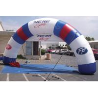 Wholesale Giant Inflatable Finish Arch Rental For Celebration 0.4mm PVC Tarpaulin from china suppliers