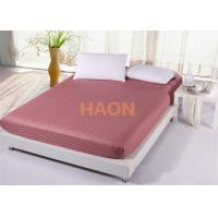 Wholesale Red Striped Bed Sheets Elastic Corner Guestroom Set Hospital from china suppliers