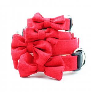 China C518 Wholesale Custom Logo Luxury Hand Made Pet Product for Dog Bamboo Hemp Dog Collar on sale