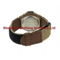 Wholesale Guaranteed quality nylon webbing/PU leather nylon hook loop watch wrist band from china suppliers
