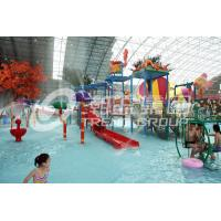Wholesale Hotel Kids' Water Playground Indoor Waterparks with Fiberglass Mini - slide from china suppliers
