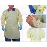 Wholesale Yellow CPE Isolation gown ,CPE Waterproof isolation gown , CPE medical gowns from china suppliers