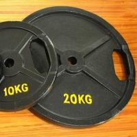 20 KGS Iron Weight Plates Cast Iron Plate Material With Double Grip Handles