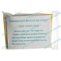 Wholesale Golden First Aid Products / Aluminum Foil Mylar Emergency Blanket from china suppliers