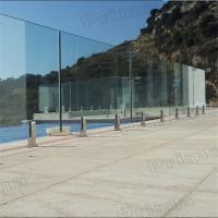 Wholesale Balcony Frameless Glass Railing Design With Tinted Tempered glass from china suppliers