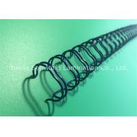 Wholesale Blue Double Loop Wire Book Binding Combs With Nylon - Coated Steel Wire from china suppliers