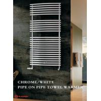 China White / Chrome Pipe on Pipe  towel radiator Classical Ladder style DD-YYW series on sale