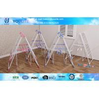 Wholesale Powder Coated Steel Pipe Collapsible Drying Clothes Rack Baby Wing Type from china suppliers