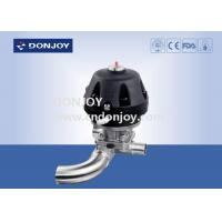 Quality Pneumatic Plastic U type three way Diaphragm Valve with Welded Ends for sale