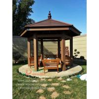 Wholesale WPC DIY hexagonal gazebo in Kuwait -wood plastic composites material 5.3m*4.6m*3.9m (17ft.*15ft.*13ft.) from china suppliers