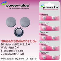 Wholesale 1.55V 26mAh Watch Silver Oxide Button Cell Battery For Micro Electronics Devices SR626W / SR66 / 377 / G2 from china suppliers