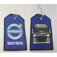 Wholesale Volvo Trucks Motorcycle Fabric Embroidery Keytag with Transparent Line from china suppliers