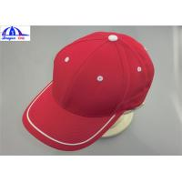 Wholesale Adult 6 Panles Sports Baseball Caps with Contract color Eyelet , Back Snapback from china suppliers