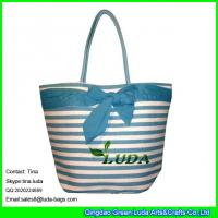 Wholesale LDZB-095 large paper straw shopping bag big bowknot beach straw bags from china suppliers