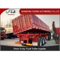 Wholesale Carbon Steel 45 Ton Tipper Semi Trailer For Sand / Stone / Bulk Cargo Transport from china suppliers