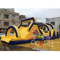 Wholesale Long Obstacle Course Inflatable Rentals Funny Commercial Obstacle Race For Outdoor from china suppliers