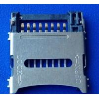 Wholesale Alternative Molex Memory TF Card Socket Hinge Type 1.8MM , Micro SD Connector from china suppliers