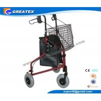 Wholesale Three Wheel Folding Rollator Walker Aids With Cable Brakes And Food Tray from china suppliers