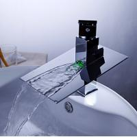 Wholesale FM-1402-02 Chrome Finish LED Color Changing Waterfall Bathroom Water Tap from china suppliers