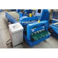 Wholesale Hydraulic Shearing Glazed Corrugated Sheet Roll Forming Machine PLC Control from china suppliers