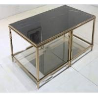 Wholesale stone top Brass  stainless steel metal side table/End table/coffee table/C table, hotel furniture,casegoodsTA-0088 from china suppliers