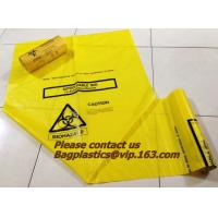 Wholesale HDPE/LDPE Plastic Strength Black Medical Biohazard Waste Garbage Bag on roll from china suppliers