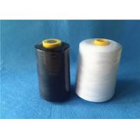 Wholesale Waxed 40/2 3000Y 100% core spun polyester sewing thread with black / white color from china suppliers