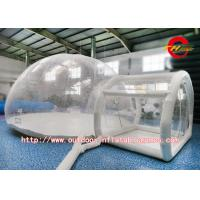 Wholesale Two Rooms Camping Inflatable Bubble Room / Transparent Bubble Tent Safety from china suppliers