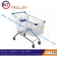Wholesale Standard Four Wheels Retail Shopping Cart Trolley On Wheels For Supermarket from china suppliers