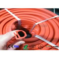 Wholesale orange color E section silicone seal for oven,E shape  silicone strips from china suppliers